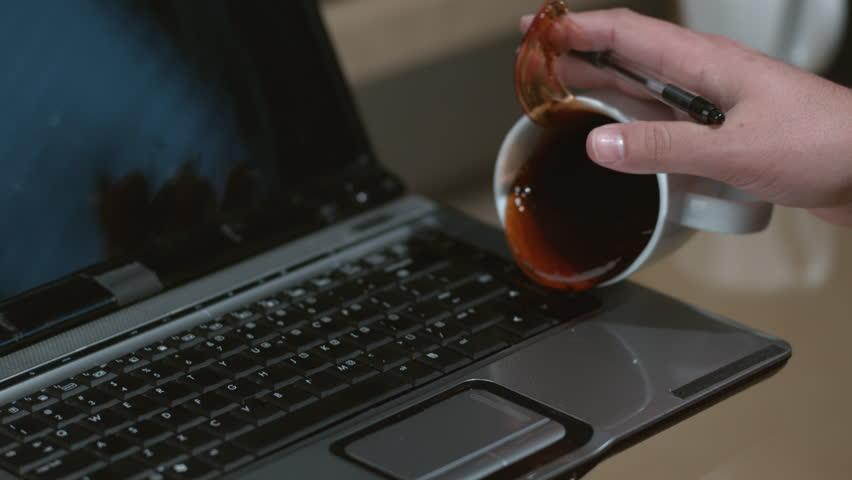 Asus Laptop Liquid Contact